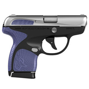 "Taurus Spectrum Semi Auto Pistol .380 ACP 2.8"" Barrel 6/7 Round Magazines Low Profile Fixed Sights Stainless Steel Slide/Polymer Frame Black/Purple Accents"