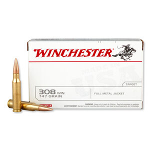 Winchester USA .308 Winchester Ammunition 20 Rounds FMJ 147 Grains USA3081
