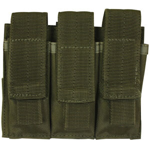 Fox Outdoor Triple Pistol Mag Pouch OD Green 57-5530