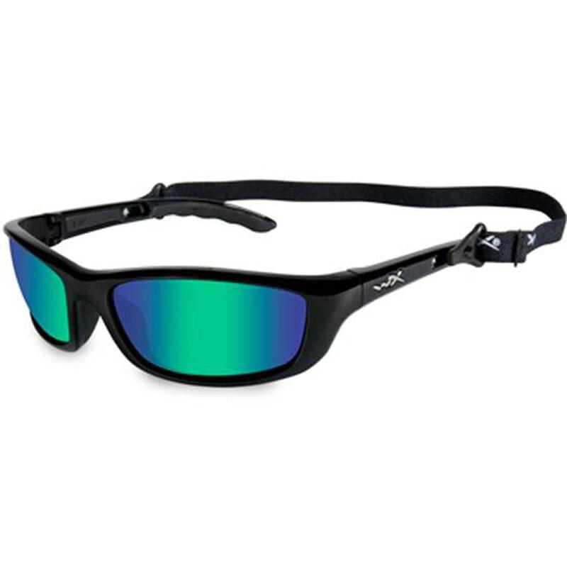 Wiley X P17 Sunglasses Polarized Emerald Mirror/Bronze Lens Gloss Demi Frame