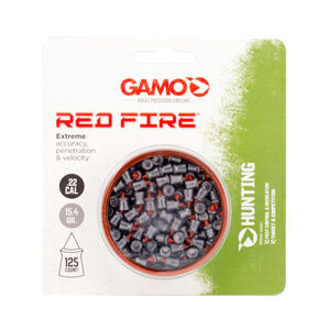 GAMO Red Fire .22 Cal Air Rifle Pellets 15.4 Grains Polymer Tip 125 Count