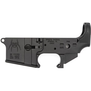 Spikes Tactical AR-15 Forged Stripped Lower Receiver Aluminum Anodized Black
