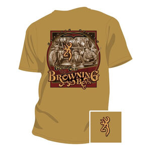 Browning Men's Browning Good Old Boys Short Sleeve T Shirt Small Cotton Gold