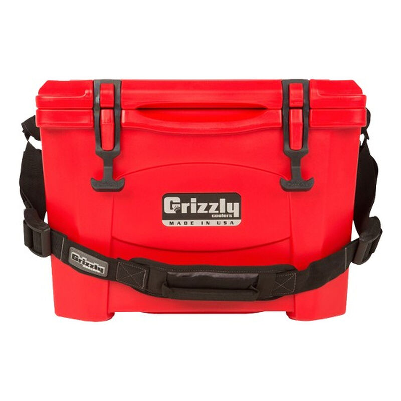 Grizzly Coolers Grizzly 15 Rotomolded 15 Quart Cooler Red