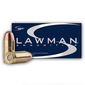 Speer Lawman .38 Special +P Ammunition 50 Rounds TMJ 158 Grains 53750
