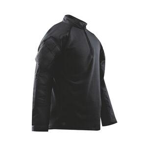 Tru-Spec Men's TRU 1/4 Zip Winter Combat Shirt Large Polyester/Spandex Black