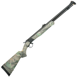 "CVA Wolf Break Action Black Powder Rifle .50 Caliber 24"" Barrel Fiber Optic Sights RT Xtra Green Camo Synthetic Stock Black Nitride Finish"