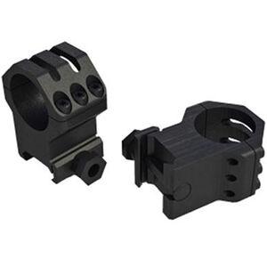 Weaver Tactical Six Hole Picatinny Rings 34mm Rings XXHigh Matte Finish Black 99686