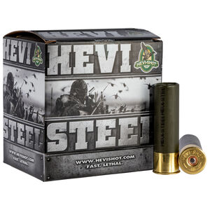 """Hevi-Shot Hevi-Steel 12 Gauge Ammunition 3"""" #4 Steel Shot 1-1/4 oz 1500 fps"""