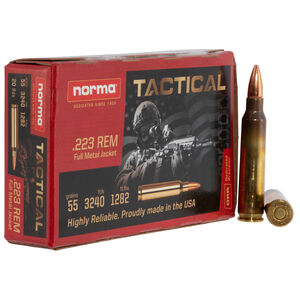 Norma USA Tactical .223 Remington Ammunition 90,000 Rounds 55 Grain Full Metal Jacket 3240fps