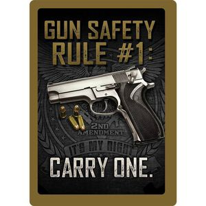 """Rivers Edge Products 'Gun Safety Rule' Metal Sign 12""""x17"""" 1461"""