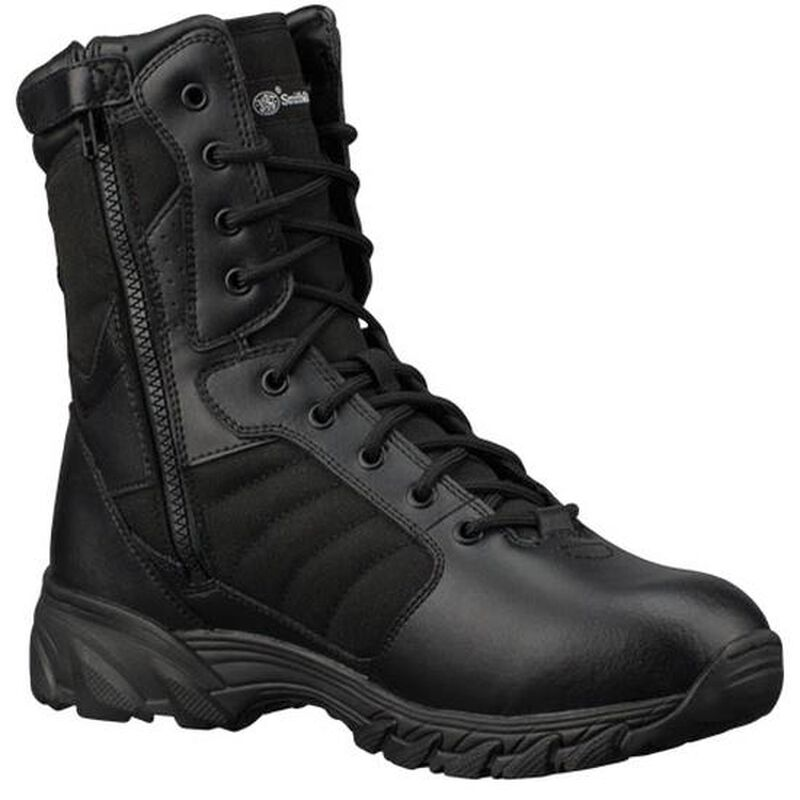 "Smith & Wesson Breach 2.0 9"" Side Zip Tactical Boot 8.5 Black"