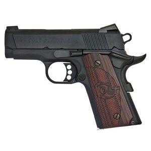 "Colt Defender Compact 1911 Semi Auto Pistol 9mm Luger 3"" Barrel 8 Round Magazine Novak Sights Alloy Frame Blue Finish"