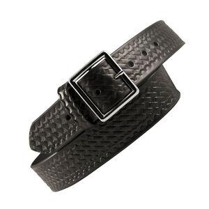 "Boston Leather Garrison Belt Value Line 1.75"" 44"" Waist Nickel Buckle Leather Basket Weave Black 6605-3-44"