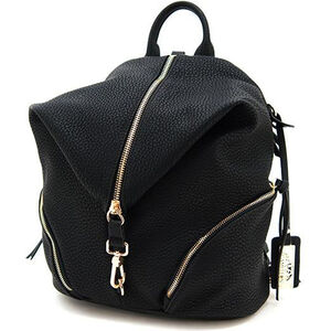 """Cameleon Aurora Teardrop Backpack Style Handbag with Concealed Carry Gun Compartment 12""""x14""""x6"""" Synthetic Leather Black"""