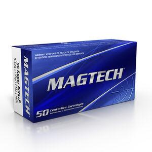 Magtech .38 Super Automatic Ammunition 50 Rounds FMJ 130 Grains 38S