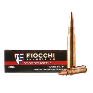 FIOCCHI .30-06 Springfield Ammunition 20 Rounds FMJ 150 Grains