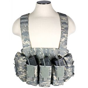 NcSTAR AK Chest Rig Holds 6 AK style Magazines and 2 Addition Item Pouches Nylon Digital Camo
