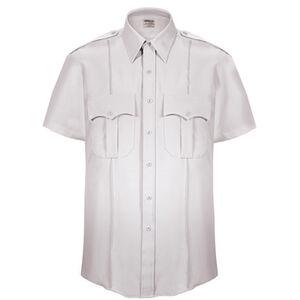 Elbeco Textrop2 Men's Short Sleeve Shirt Neck 18 100% Polyester Tropical Weave White