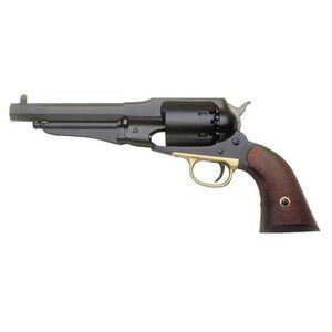 "Taylor's & Co 1858 Remington Steel .44 Caliber Black Powder Revolver 5.5"" Octagonal Barrel 6 Rounds Walnut Grips Blued"