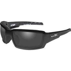 Wiley X Titan Eye Protection Polarized Smoke Grey Lens Black Gloss Frame