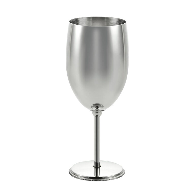 This nesting wine goblet makes it easy to pack for any trip, from mountain to cabin.  Features:  Made of high quality food grade stainless steel Includes a stuff sack