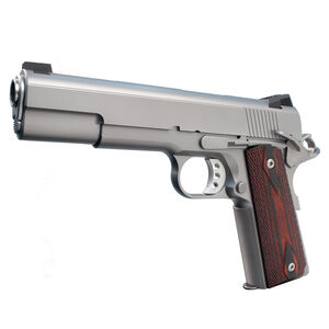 "Ed Brown 18 Executive Elite Semi Auto Pistol .45 ACP 5"" Barrel 7 Rounds Gold Bead Front Sight/Fixed Black Rear Stainless Steel Matte Finish"
