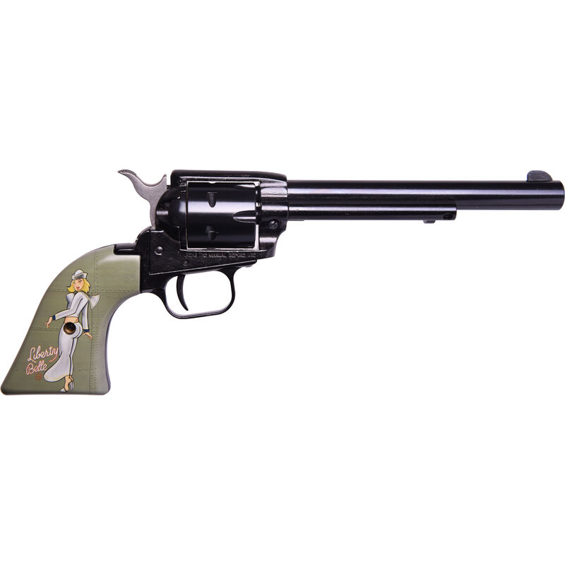 "Heritage Rough Rider Pin Up Girls .22 LR Single Action Rimfire Revolver 6.5"" Barrel 6 Rounds TALO Exclusive Liberty Belle Synthetic Grips Blued"