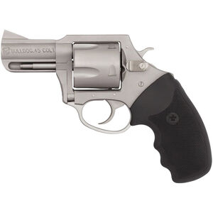 """Charter Arms Bulldog .45 LC Revolver 5 Rounds 2.5"""" Barrel Black Rubber Grip Stainless Finish"""