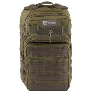 "Drago Gear Ranger 15"" Laptop Backpack 18"" x 17.5"" x 12"" MOLLE Webbing 1,463 Cubic Inches Hydration Reservoir Compatible Green 14309GR"