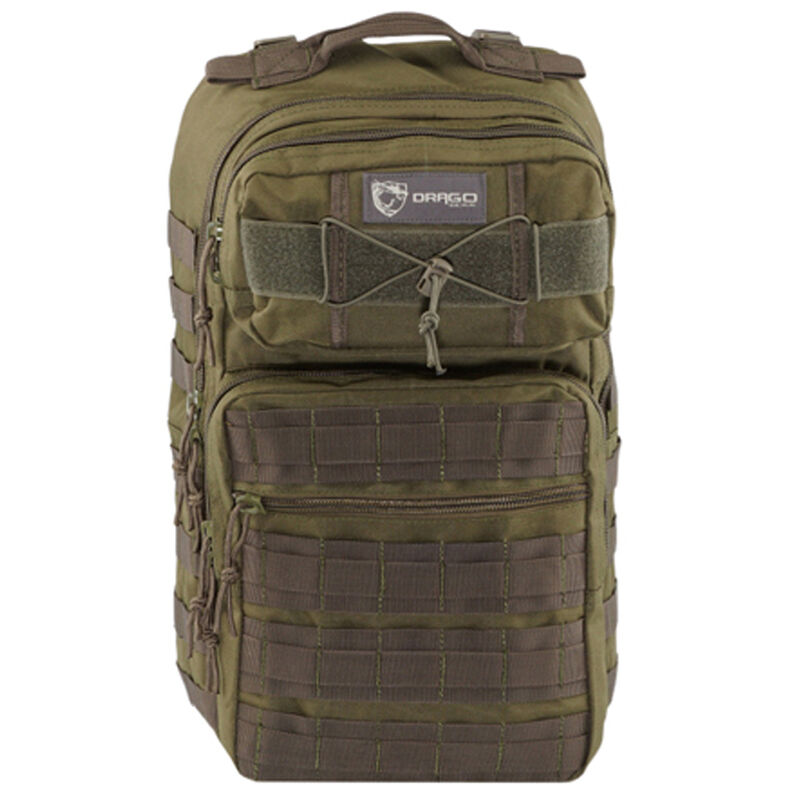 """Drago Gear Ranger 15"""" Laptop Backpack 18"""" x 17.5"""" x 12"""" MOLLE Webbing 1,463 Cubic Inches Hydration Reservoir Compatible Green 14309GR"""