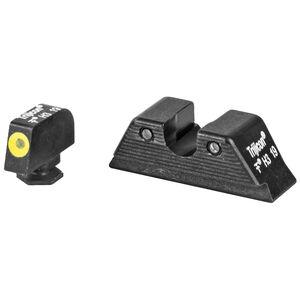 Trijicon HD-XR Night Sight Set fits GLOCK 17/22/25/31/37 MOS Models Green Tritium Yellow Outline Steel Housing Matte Black Finish