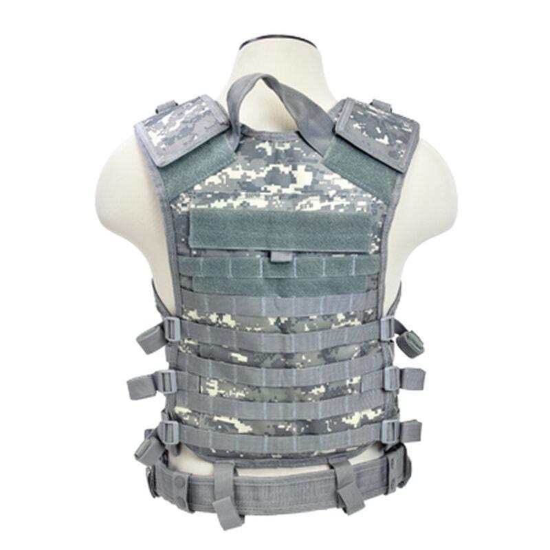 NcSTAR PAL Modular Vest MOLLE Compatible with Pistol Belt Size med to 2XL Nylon Digital Camo