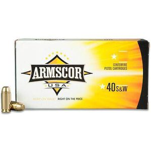 Armscor USA .40 S&W Ammunition 20 Rounds JHP 180 Grains AC40-3N