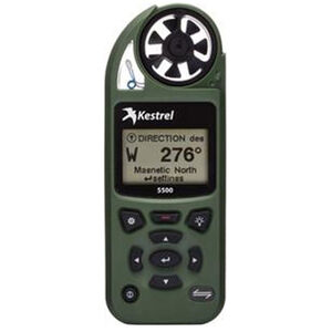 Kestrel 5500 Electronic Hand Held Weather Meter with LiNK and Vane Mount OD Green Finish