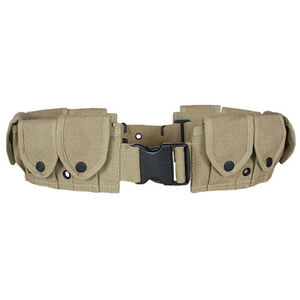 "Fox Outdoor 10 Pocket Cartridge Belt 34"" to 58"" Waist Canvas Khaki 50-37"