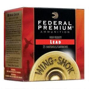 "Federal Wing-Shok 12 Ga 2.75"" #6 Lead 1.375oz 250 rds"