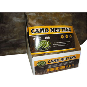 "Camo Unlimited Poly Netting 54""x12' Arid Camo Fabric"