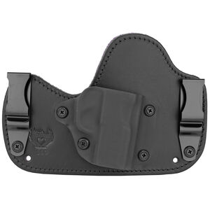 Flashbang Ava Inside the Waistband Holster for SIG Sauer P365 Right Hand Draw Black Kydex Shell/Black Leather Body/Royal Purple Suede Backing