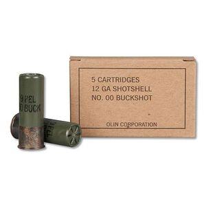 "Winchester Military Grade 12 Ga 2.75"" 00 Buck 5 Round Box"