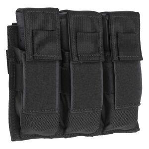 Tac Shield Triple Pistol Magazine MOLLE Pouch Nylon Black T3603BK