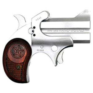 """Bond Arms Mini Single Action Derringer .45 Long Colt 2.5"""" Barrel 2 Rounds Rosewood Grips Stainless Finish BAM45LC"""