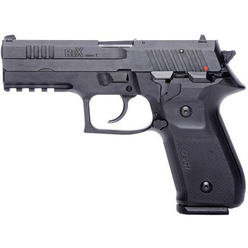 "FIME Group Rex Zero 1S Semi Auto Pistol 9mm Luger 4.3"" Barrel 17 Rounds Metal Frame Black"