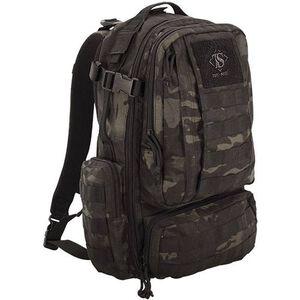 "Tru-Spec Circadian Backpack 19""x12""x10"" Ballistic Pack Cloth Black Camo 4817000"