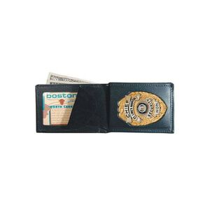 Boston Leather Billfold Badge Wallet Leather 250-9004