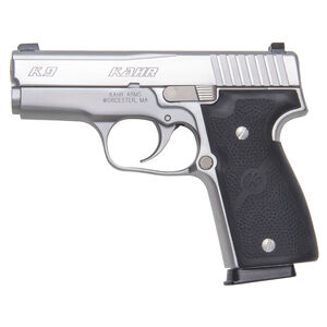 "Kahr K9 Elite Semi Auto Pistol 9mm Luger 3.5"" Barrel 7 Rounds Night Sights Wrap Around Black Polymer Grips Stainless Steel Frame/Slide Natural Finish"