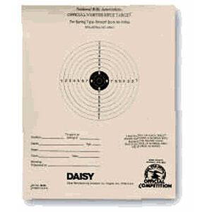Daisy Official NRA 5 Meter Air Rifle Targets 50 Sheets 408