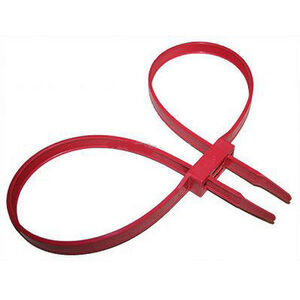 """Monadnock Double Cuff Disposable Restraints .5"""" Wide Polymer Red 10 Pack 8220-3-35"""