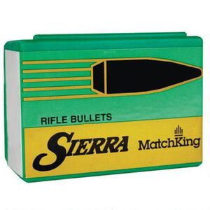 """Sierra MatchKing Bullet .22 Caliber .224"""" Diameter 95 Grain Hollow Point Boat Tail Projectile 100 Count"""