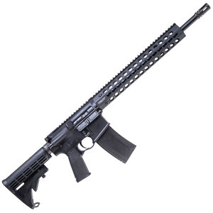 "Troy Industries CQB-SPC A3 Carbine AR-15 Semi Auto Rifle 5.56 NATO 16"" Barrel 30 Rounds KeyMod Hand Guard Collapsible Stock Matte Black"